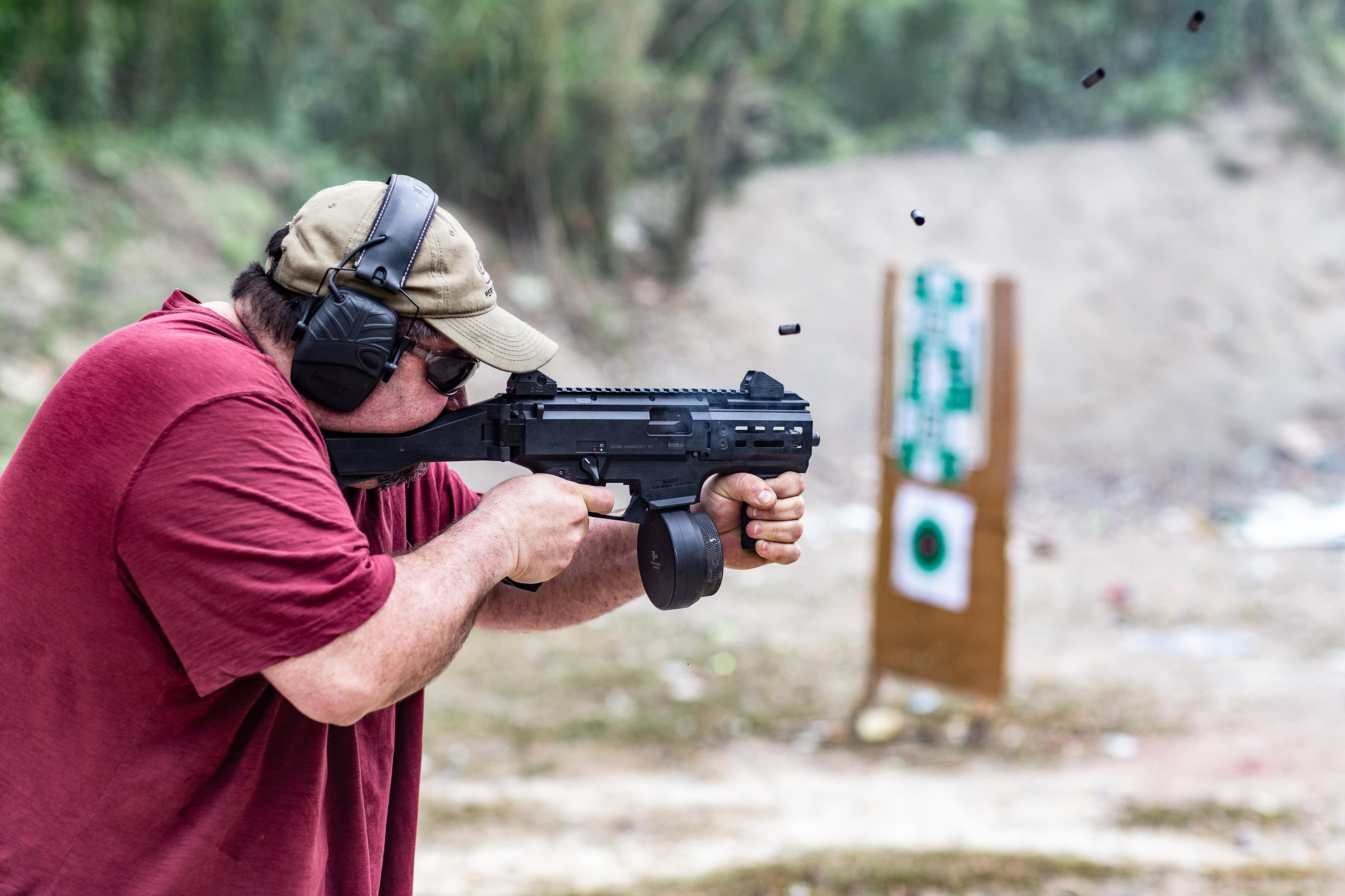 Dedicated ranges get you out of the house and into the great outdoors, and you sometimes get to see cool stuff like this full-auto CZ Scorpion EVO 3 via CW Gunwerks...