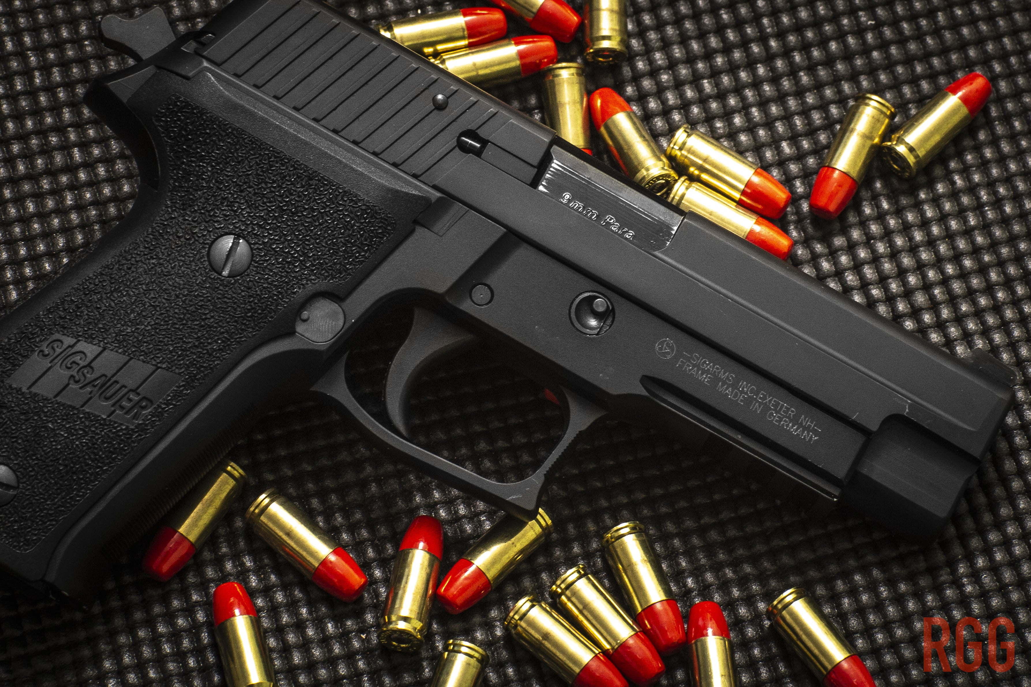 Though with cosmetic wear, this P226 functions to a superb level.