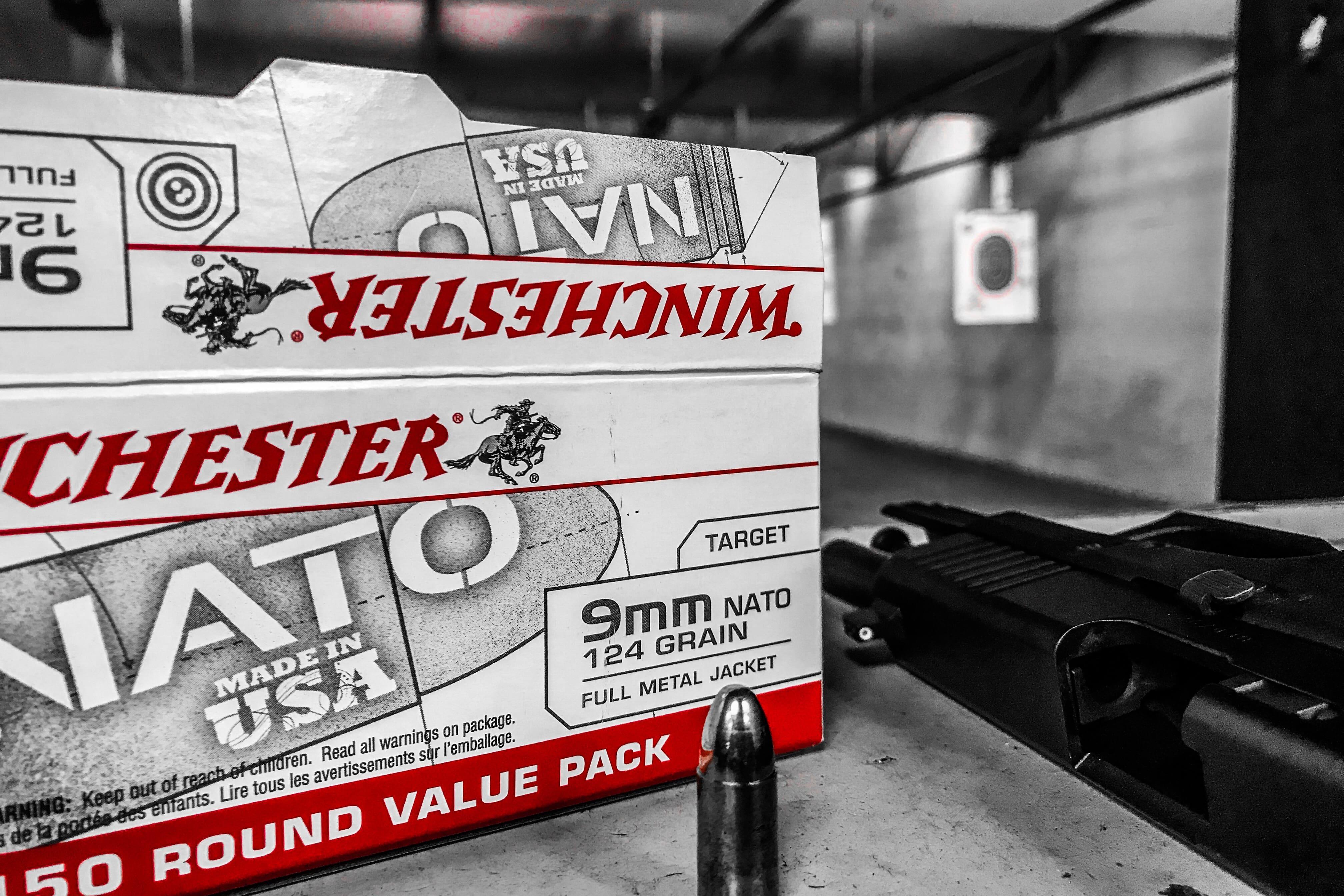 GLOCK 45 9mm and Winchester 9mm NATO 124 Grain