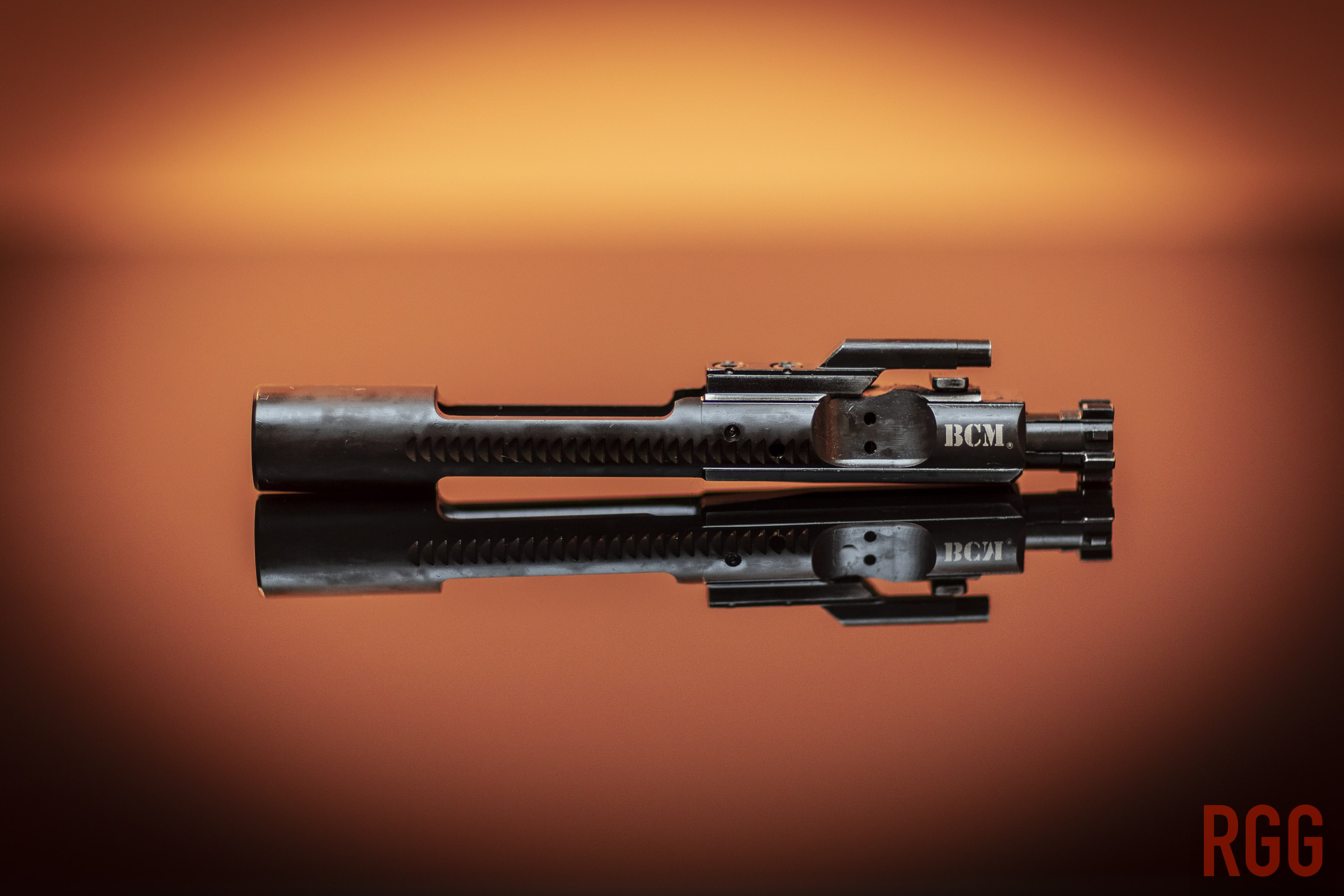 A Bravo Company Manufacturing M16-style Bolt Carrier Group.