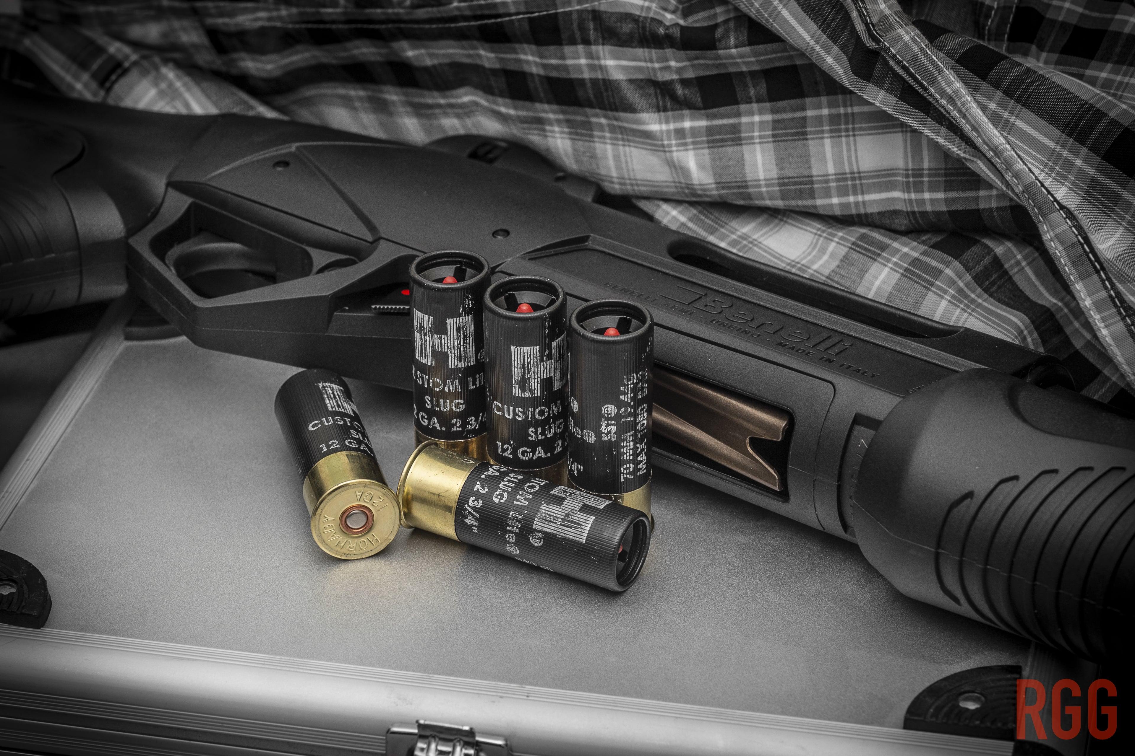 A Benelli SuperNova 12-gauge shotgun.