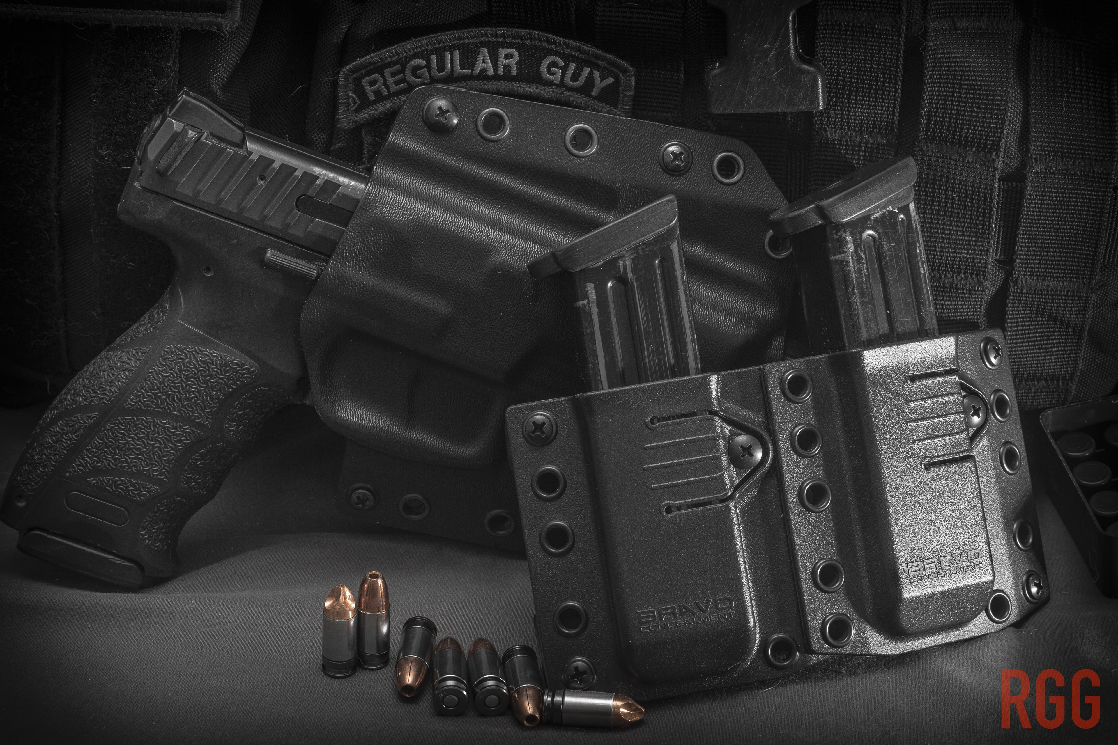 The Bravo Concealment 3.0 Double Mag Pouch is an essential accessory.