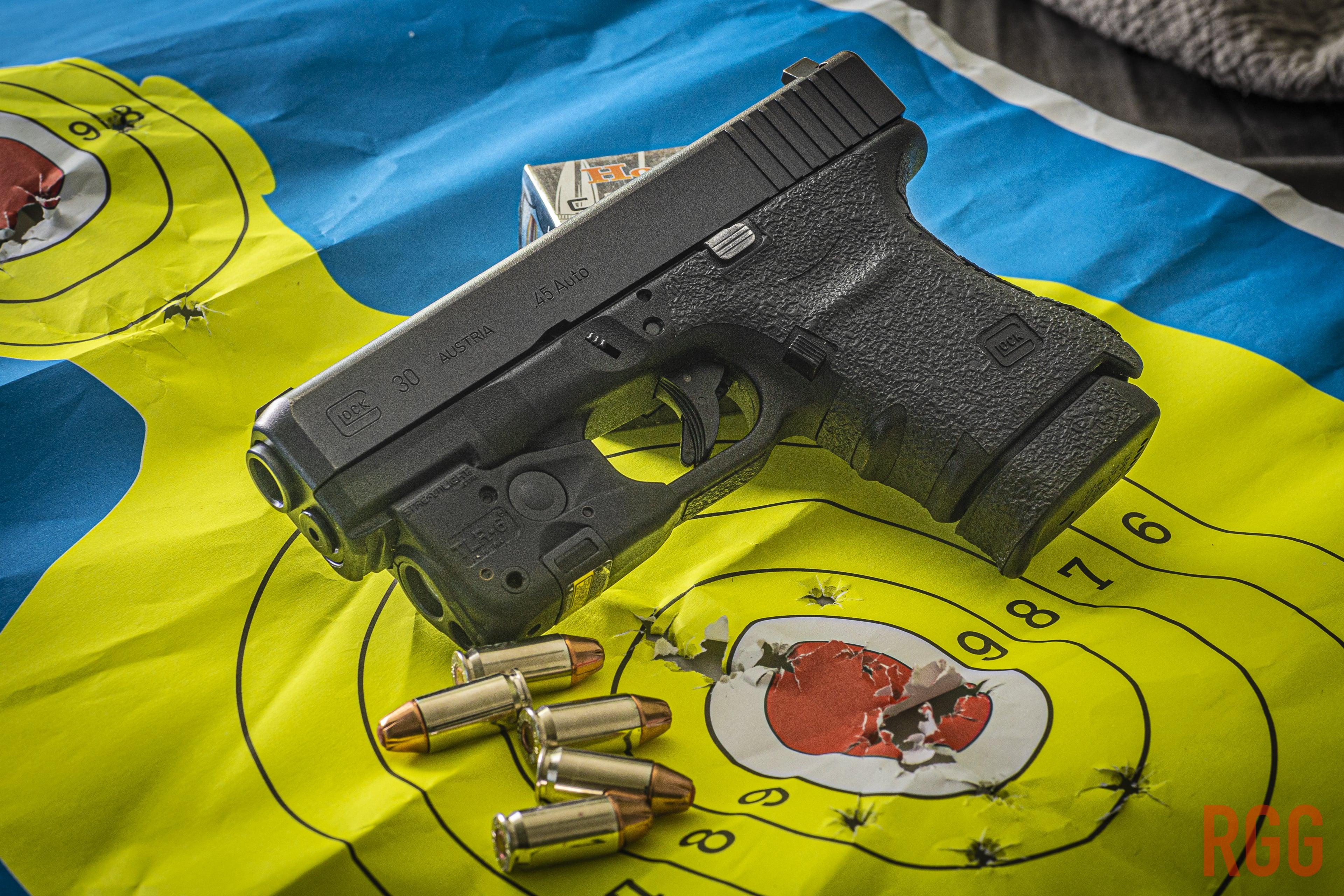We aim center mass to ensure an effective hit on an assailant.