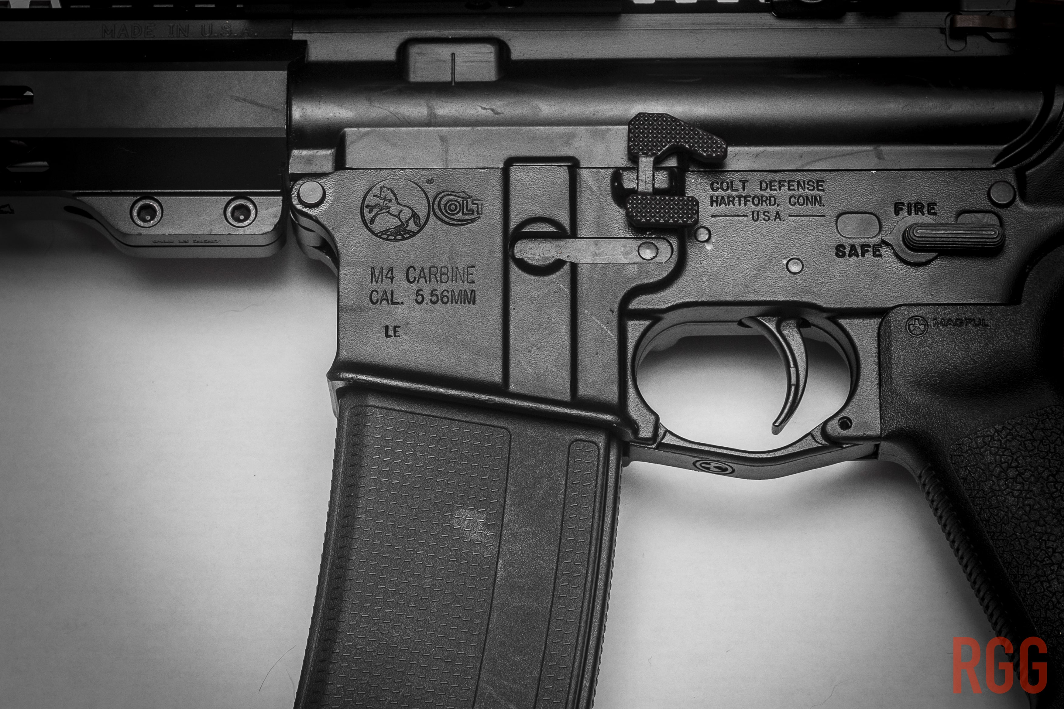 Colt LE6920 lower - the rampant pony rollmark.