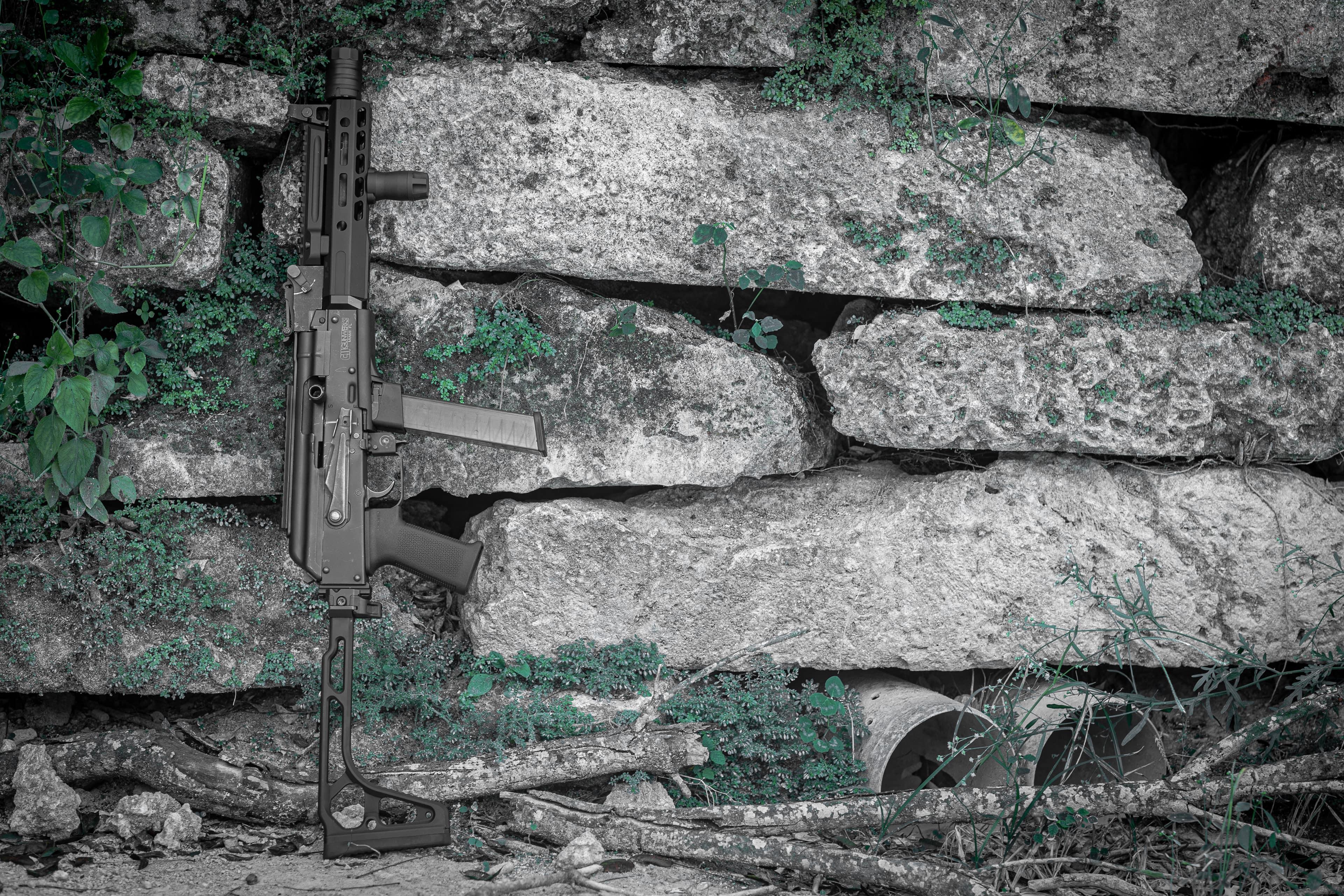 A 9mm AK submachinegun by CW Gunwerks