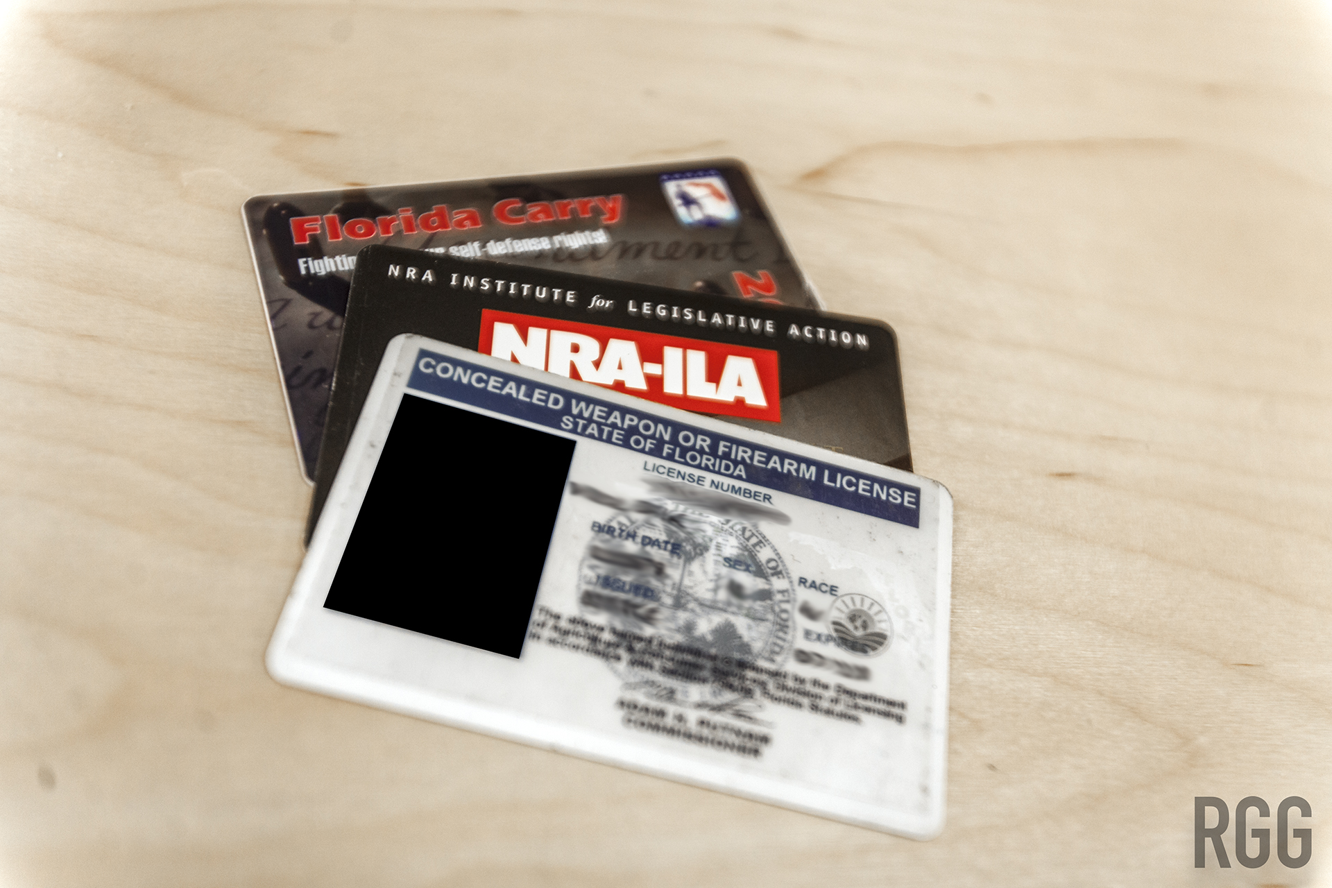 A concealed weapon or firearm license from the State of Florida