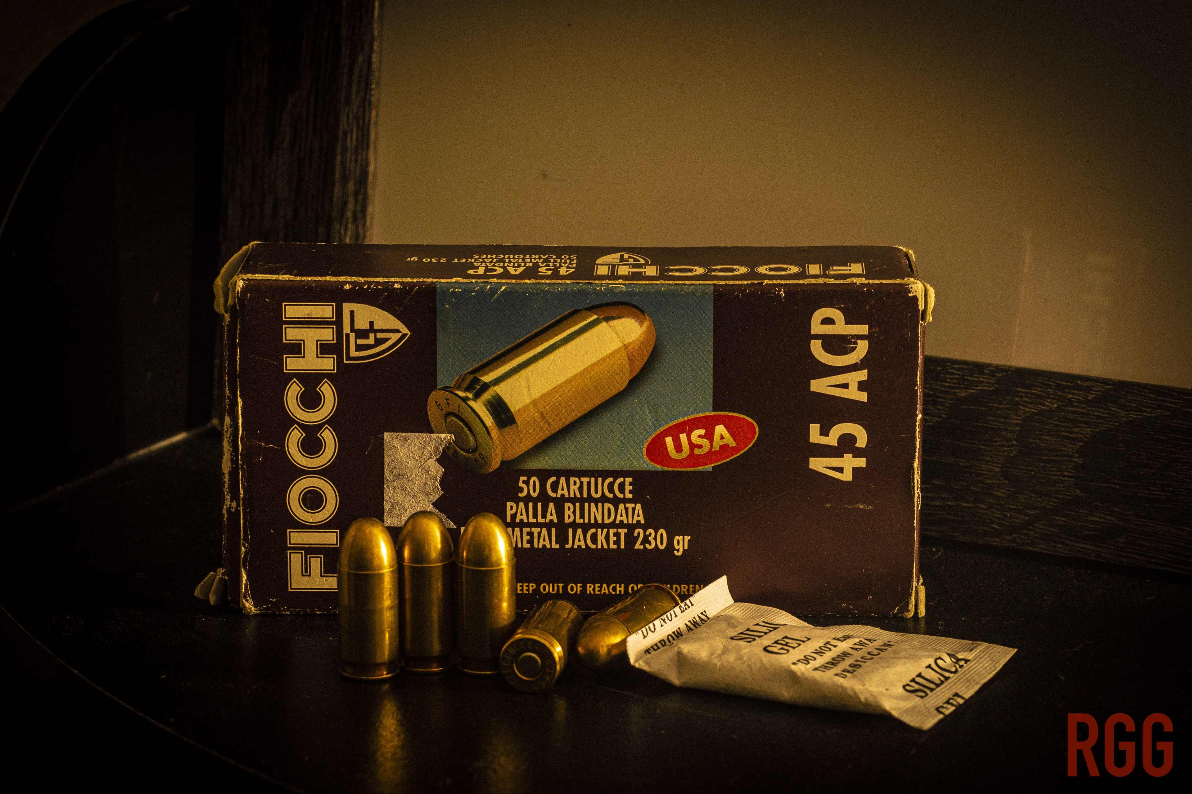 Hungarian-made Fiocchi 45 ACP Ammunition