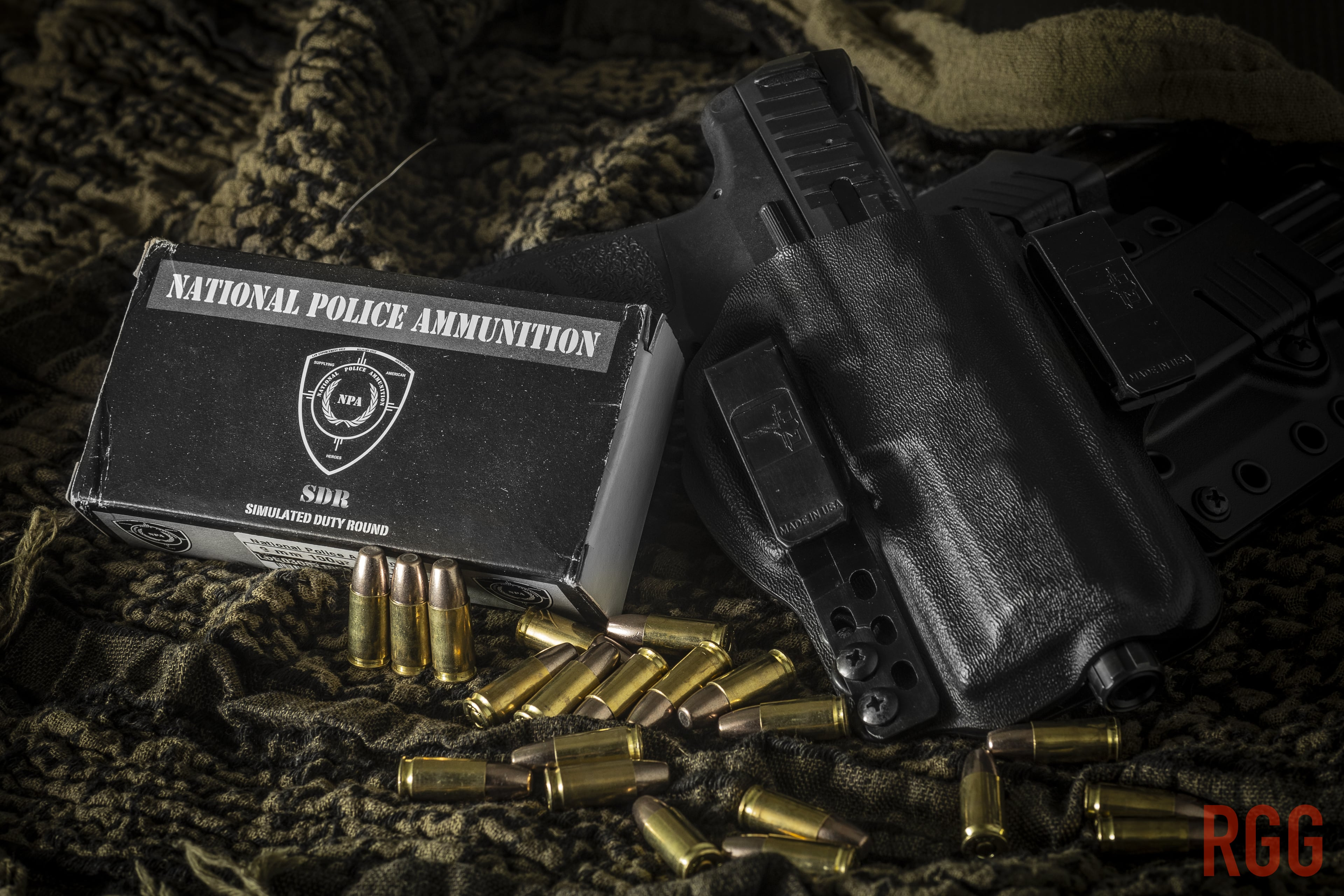 National Police Ammunition 9mm 100gr Simulated Duty Round.