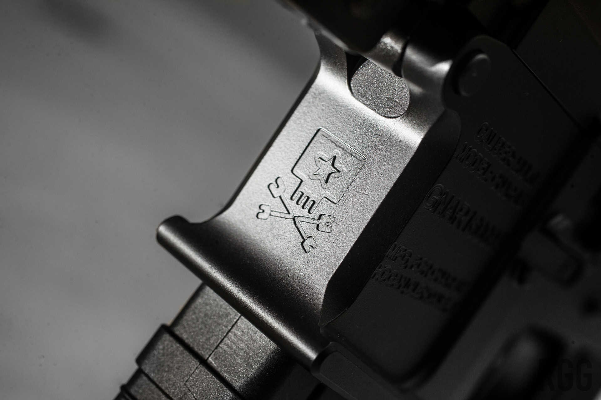 Magwell has a nifty engraving on the front...