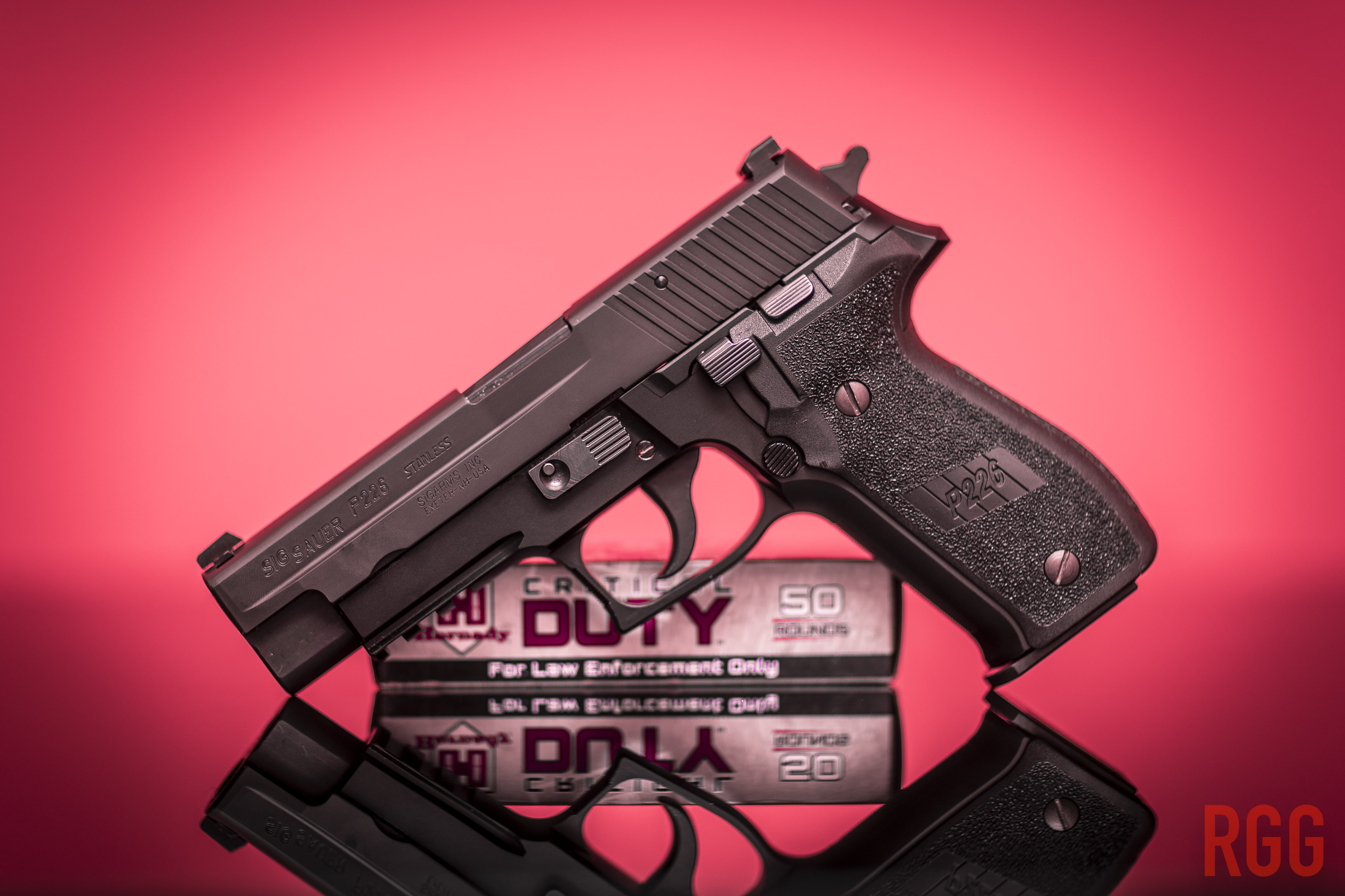 With the right instruction and technique, a SIG P226 is a quite suitable handgun for a woman.