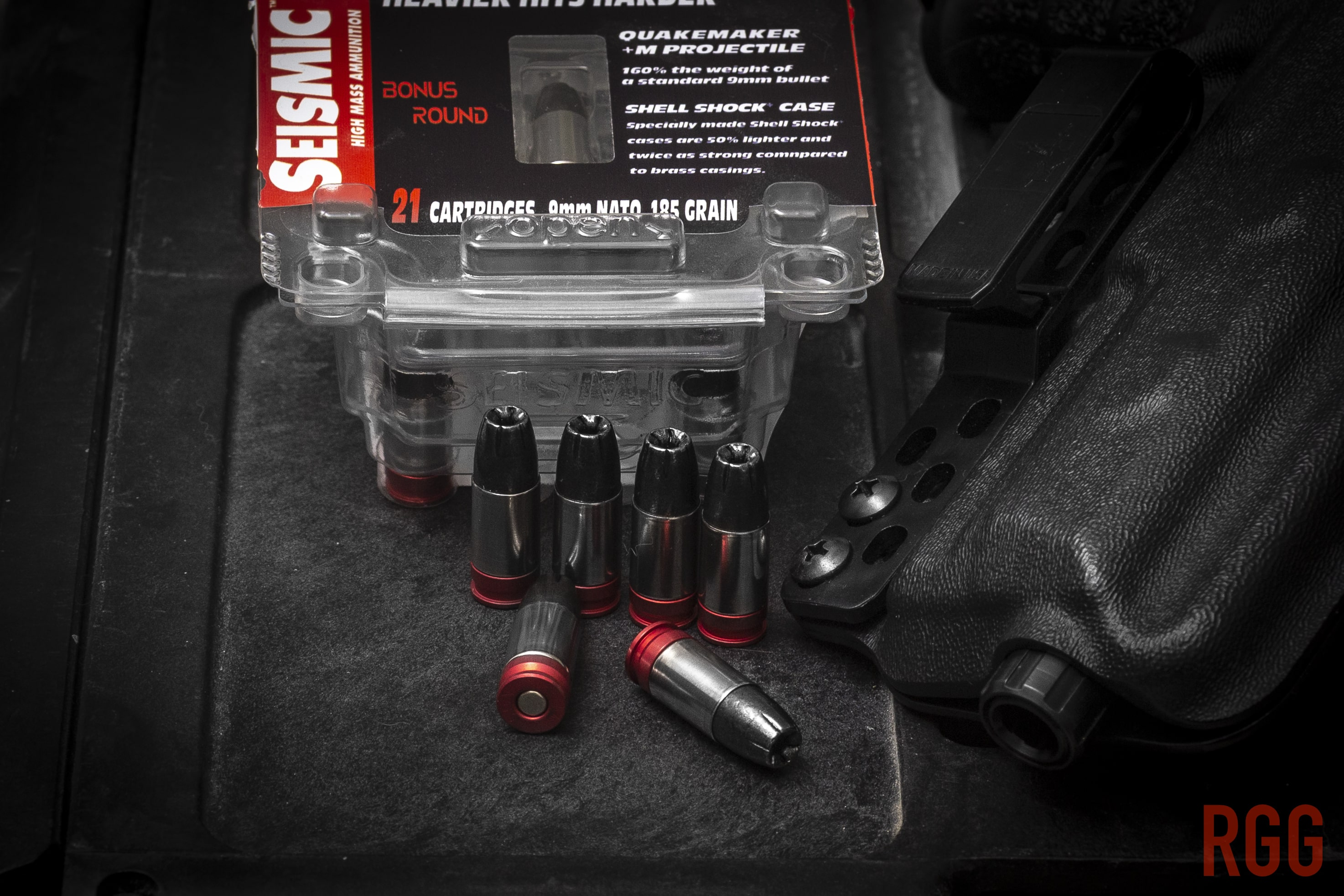 Seismic Ammo 9mm NATO 185 Grain +M Hollow Point Ammo.