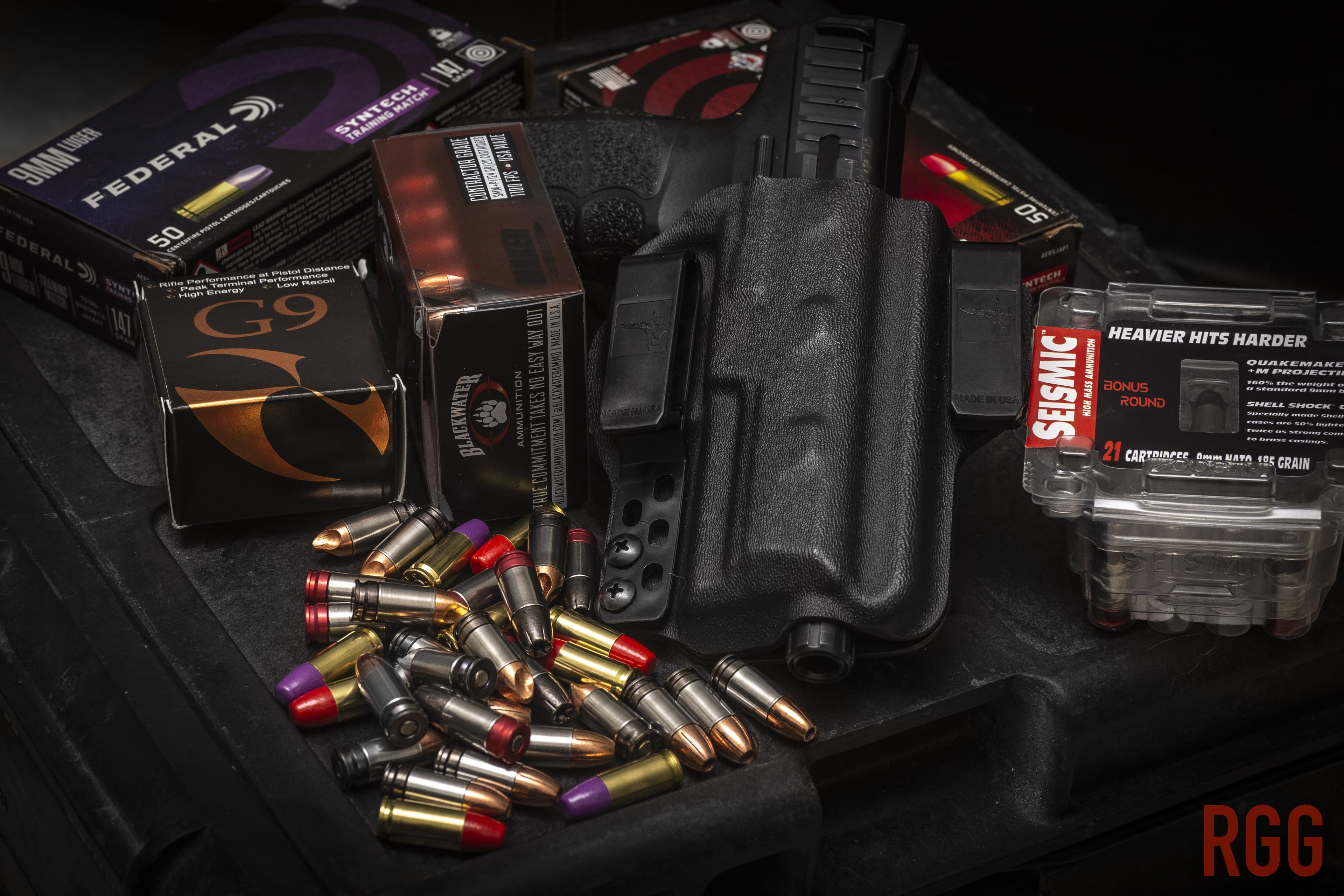 New offerings in 9mm ammunition from G9, Federal, Blackwater, and Seismic.