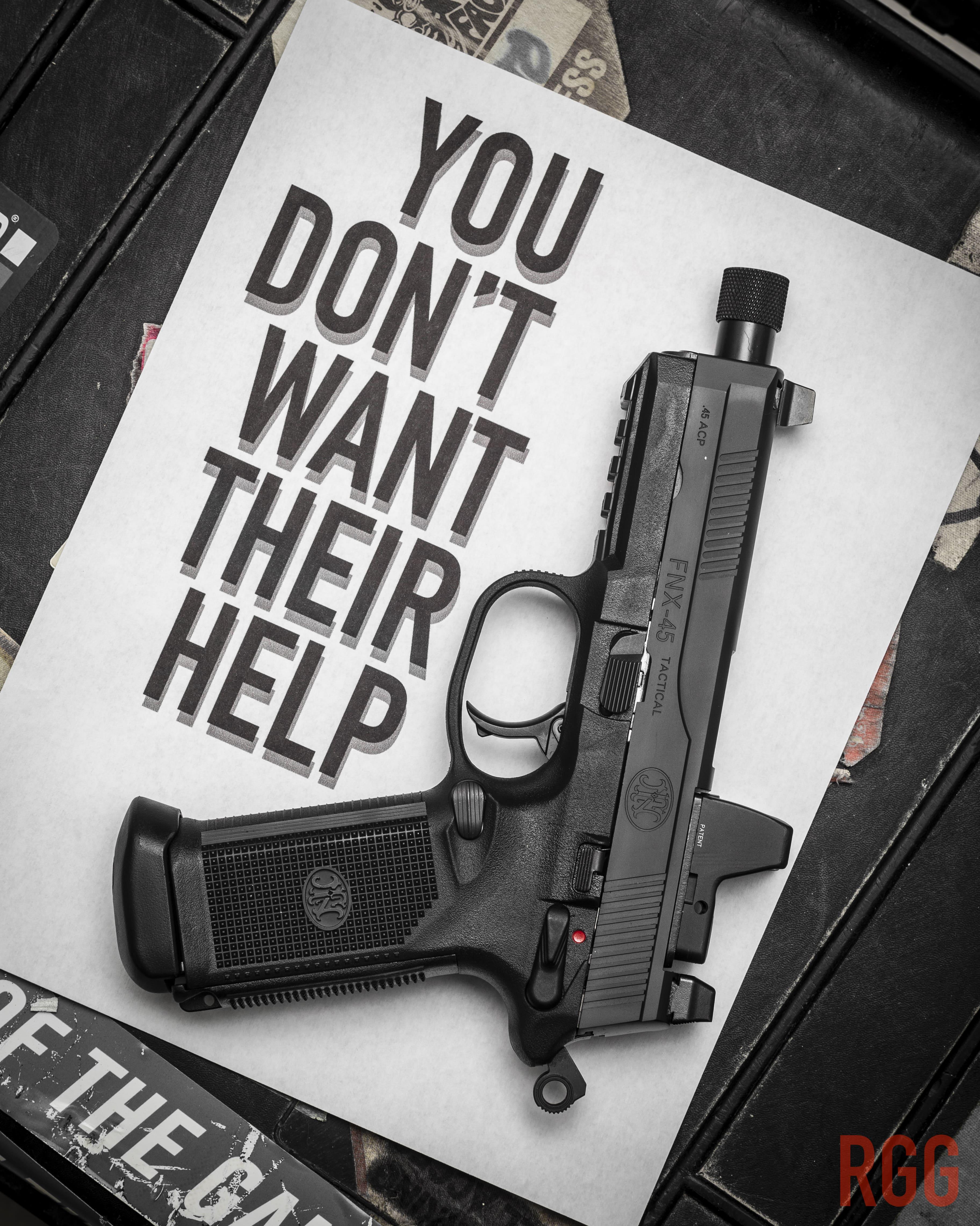 You don't want their help - bring an FNX-45 instead.