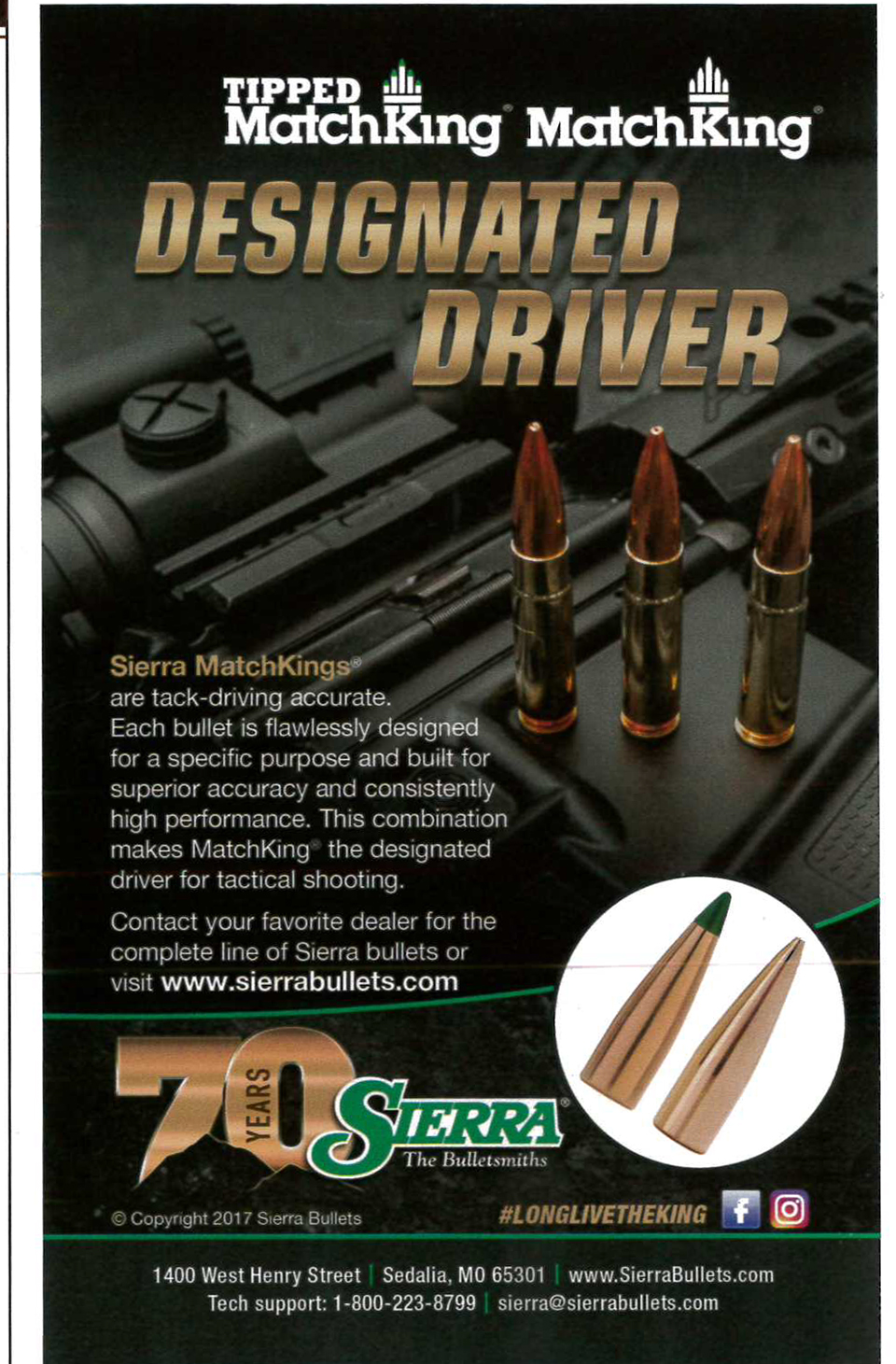 My first print advertisement for a firearms company...