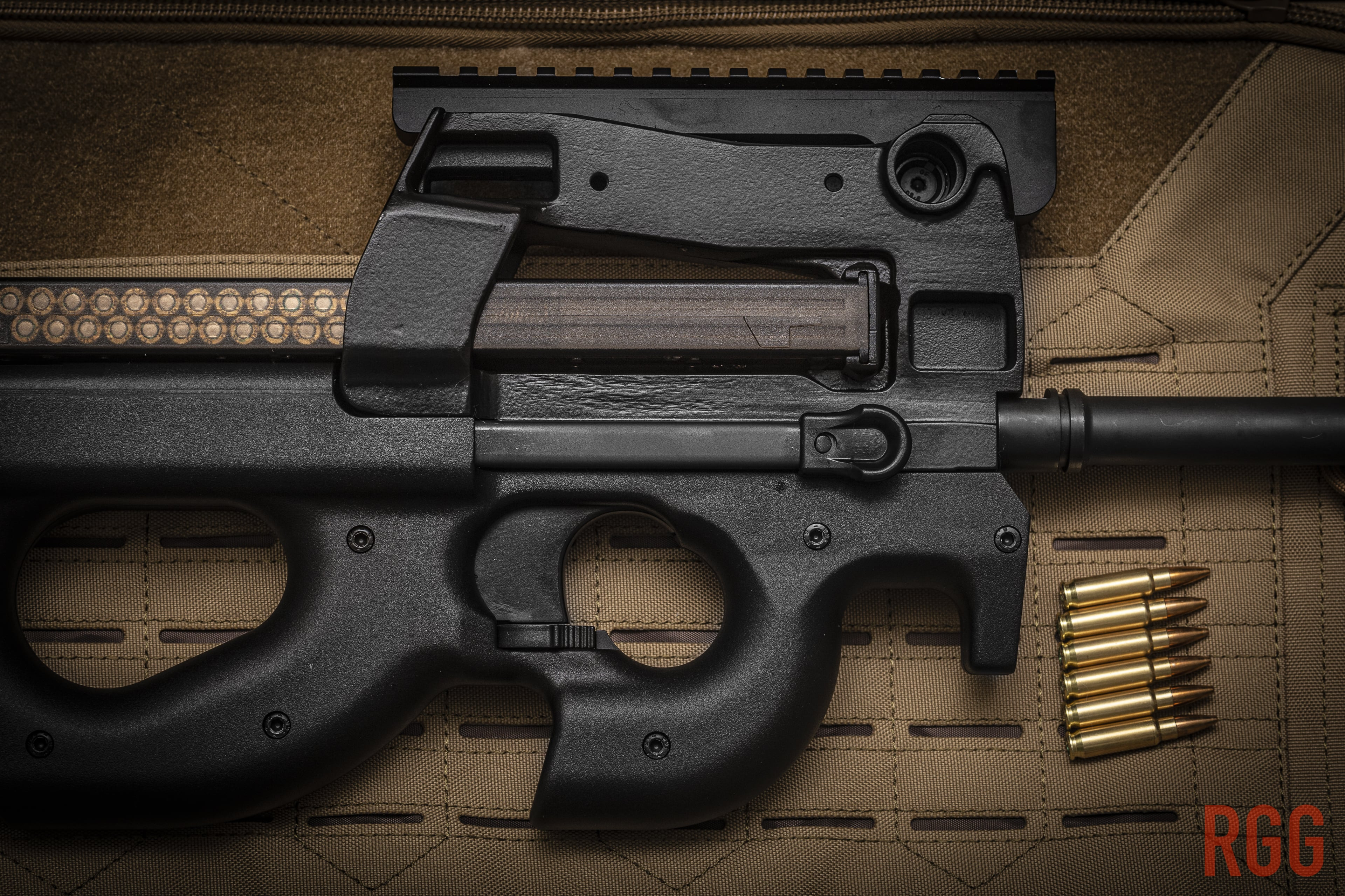 FN Herstal PS90 rifle chambered in 5.7x28mm.