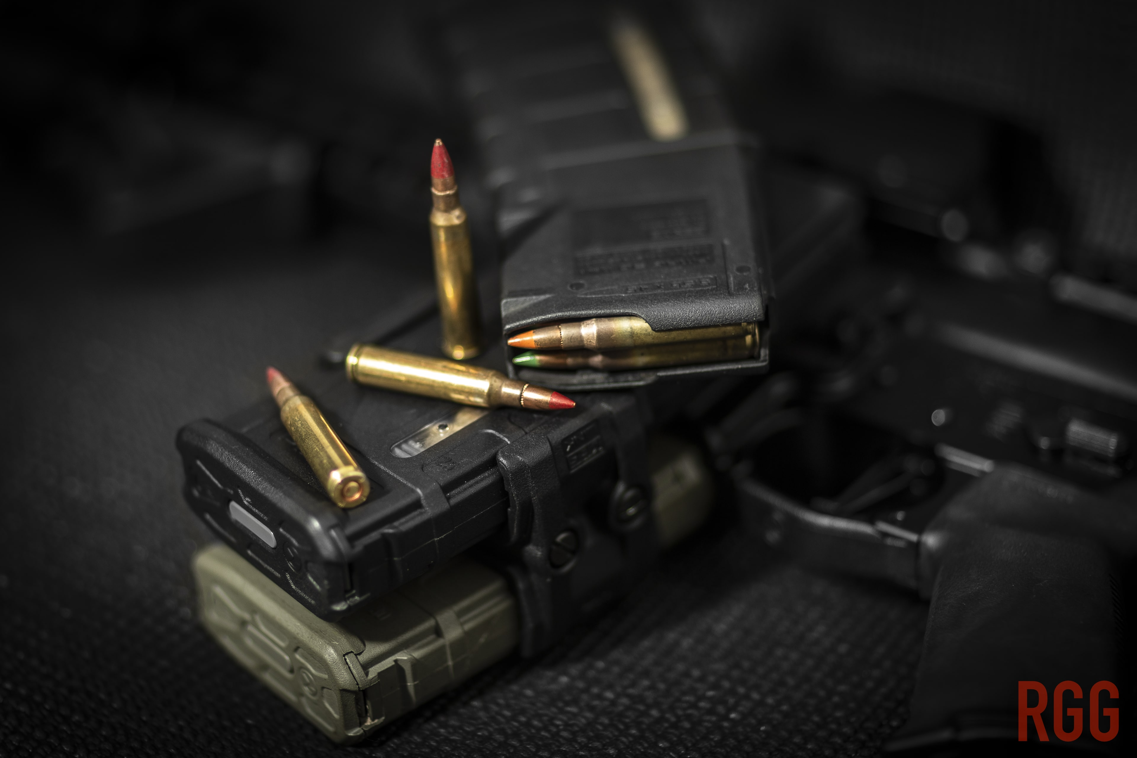 Some M196 and M856 5.56mm tracer ammunition.