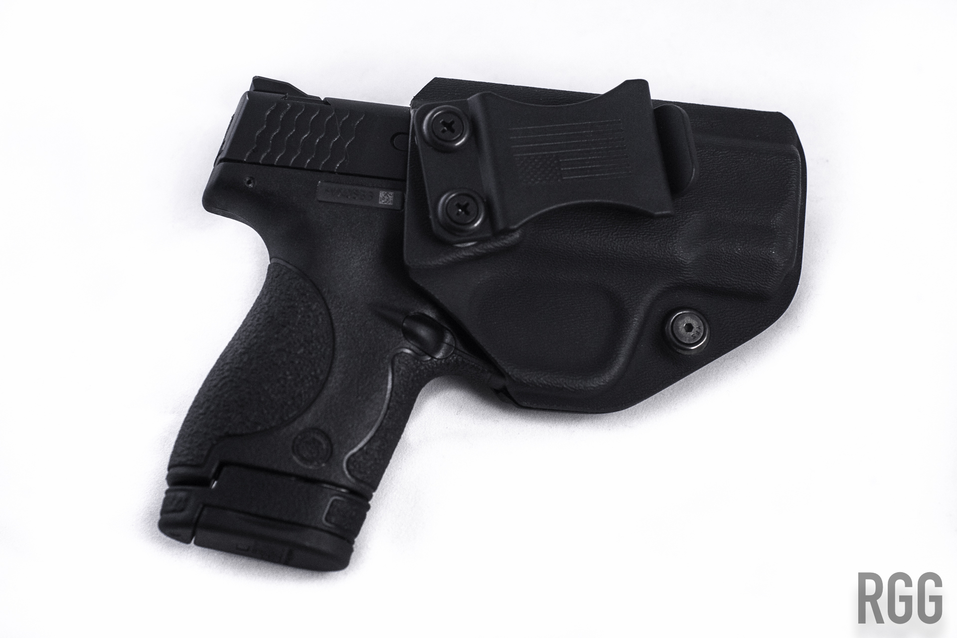 A custom Kydex holster for a Smith & Wesson M&P Shield 40