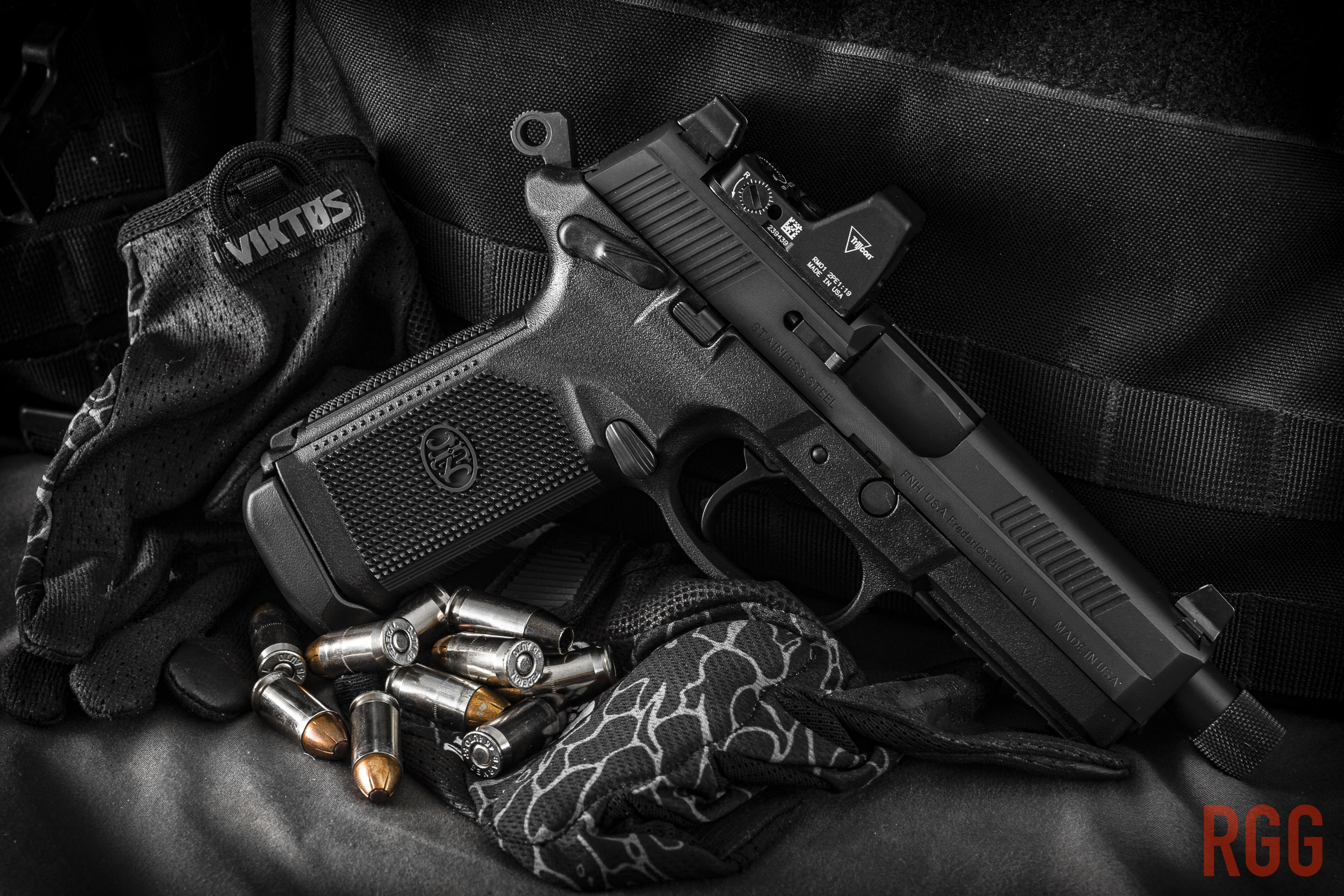 FN America FNX-45 .45 ACP pistol. Doesn't have much to do with this guest post but it's a cool photo I took.