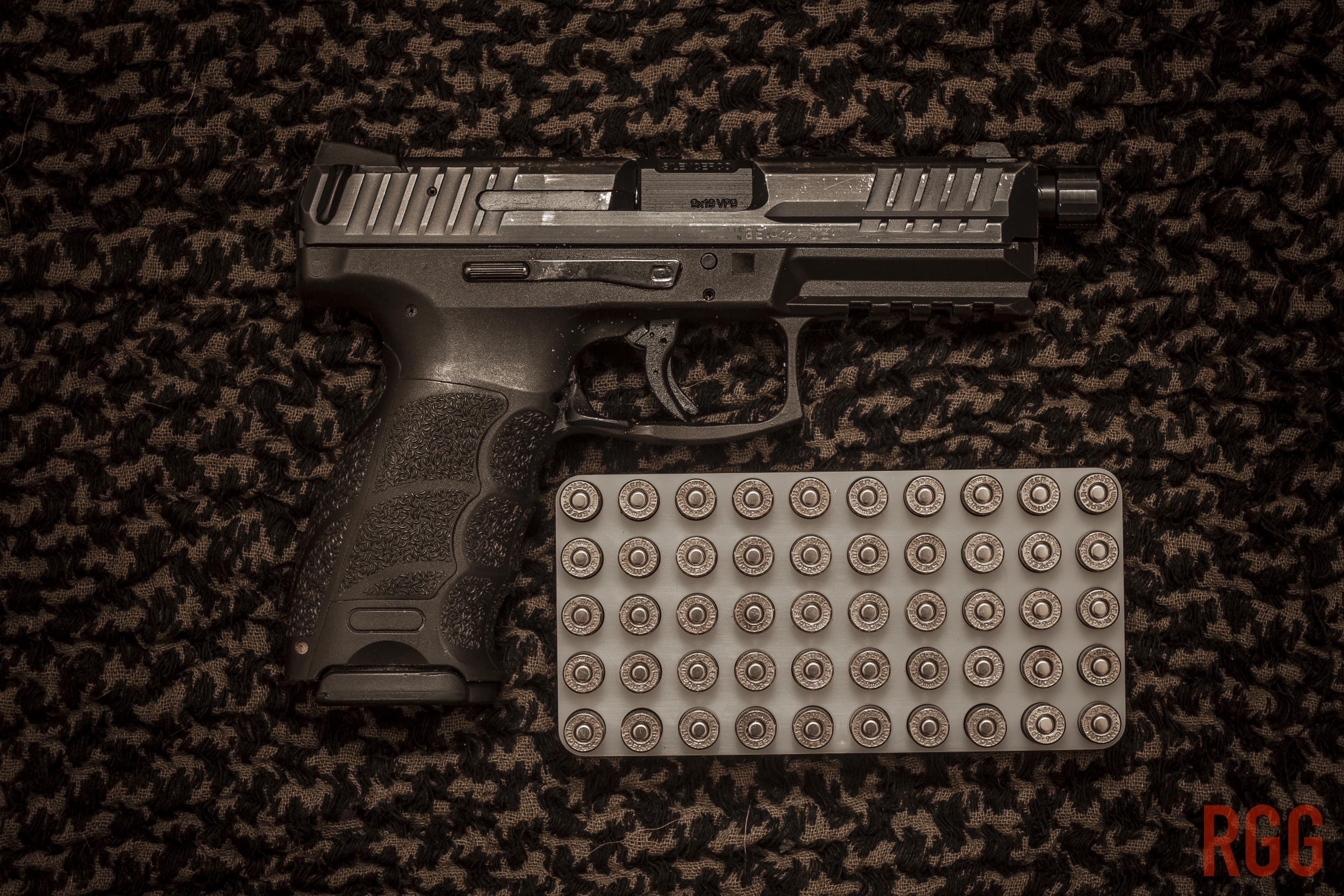 A Heckler & Koch VP9 Pistol and Speer 9mm 115gr +P+ Gold Dot Hollow Point Ammo.